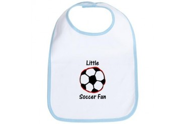 Little Soccer Fan Sports Bib by CafePress