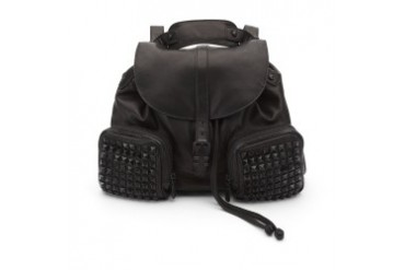 Star Studded Leather Backpack
