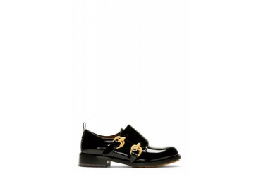 Valentino Black Serpentine Monk Strap Shoes