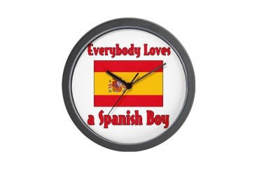 Everybody Loves a Spanish Boy Spanish Wall Clock by CafePress