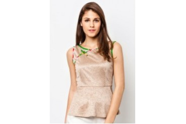 Boat Neck Sleeveless Blouse