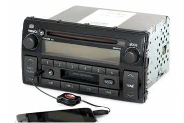 Toyota 02-04 Camry LE Radio AM FM CD Cassette w Aux Input 86120-AA040 16823