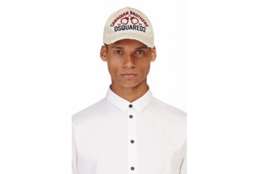 Dsquared2 Beige Brothers Cap