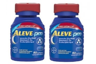 Aleve PM Easy Open Cap Pain Reliever, Sleep Aid 2 Bottle Pack