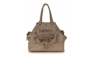Billy Bubble Beige Leather Tote