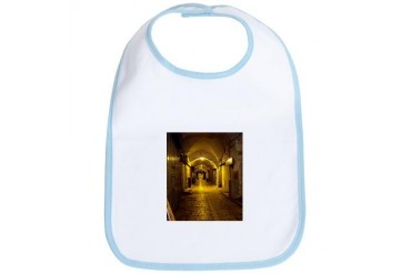 oldcitystreetgreenlight.jpg Travel Bib by CafePress