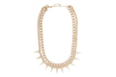 Dipped Row Spike Collar Necklace