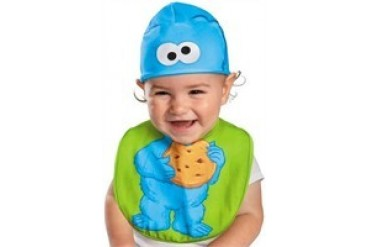 Sesame Street Cookie Monster Bib and Beanie Hat Infant Costume
