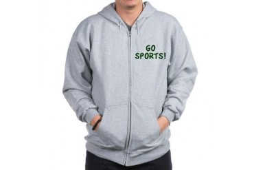 GO SPORTS Funny Zip Hoodie by CafePress