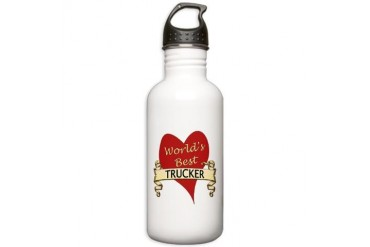 Trucker Stainless Water Bottle 1.0L by CafePress