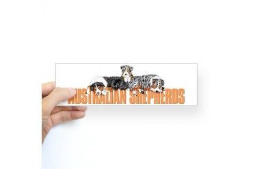 Lounging Aussies Bumper Sticker Pets Sticker Bumper by CafePress