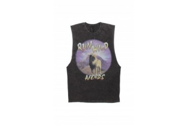 Mens Afends Tank Tops - Afends Run Wild Muscle Tank Top