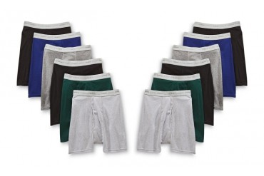 Hanes Men s TAGLESS Boxer Brief with Comfort Flex Waistband (12 Pack)