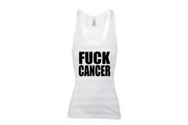 FUCK CANCER - Racerback Tank Top