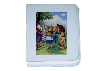 The Lion and The Unicorn Baby baby blanket by CafePress