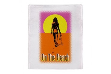 On The Beach Stadium Blanket Funny Throw Blanket by CafePress