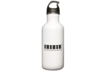 Keyboard / Piano Piano Stainless Water Bottle 1.0L by CafePress
