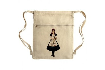Psycho Girl Sack Pack Art Cinch Sack by CafePress