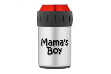 mama boy.jpg Thermos Can Cooler Funny Thermosreg; Can Cooler by CafePress