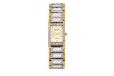 Omax JES562G Alloy Silver & Gold Watch