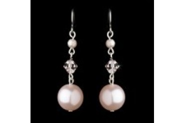 Elegance By Carbonneau Earrings - Style E8355-Pink