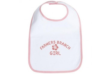 Farmers Branch Pink Girl Texas Bib by CafePress