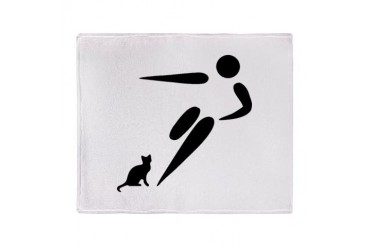 Kick Cat Stadium Blanket Funny Throw Blanket by CafePress