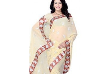 Impressive Embroidered Georgette Saree