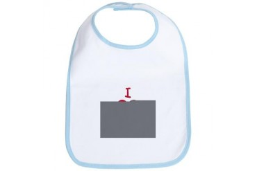 I love my Uncle Baby girl Bib by CafePress