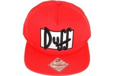 bbefaf66fd892 Simpsons Duff Logo Red Embroidered Snap Closure Hat - Price Comparison