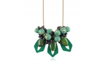 Emerald Resin Necklace