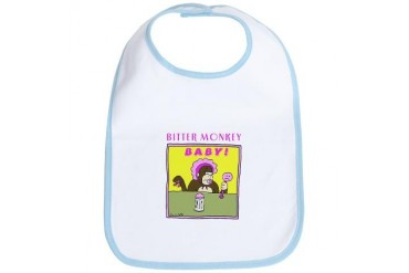 Bitter Monkey Baby Bib by CafePress
