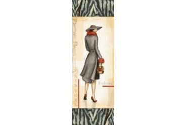 New York Fashion Poster Print by Andrea Laliberte (12 x 36)