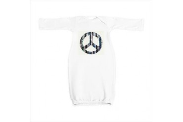 Beads, peace sign, multi-colored Retro Baby Gown by CafePress