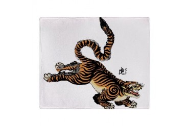 Japanese Tiger Art Stadium Blanket Vintage Throw Blanket by CafePress