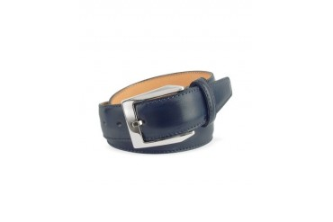 Men's Blue Hand Painted Italian Leather Belt
