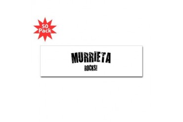 Murrieta Rocks California Sticker Bumper 50 pk by CafePress