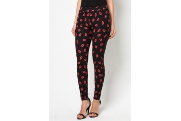 CLUB ZEN Jeggings with Smooch Print