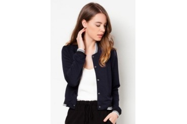 Something Borrowed Cropped Bomber Jacket