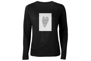 Black and white Women's Long Sleeve Dark T-Shirt by CafePress