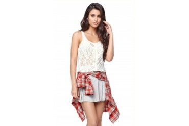 Womens La Hearts - La Hearts All Over Lace Tank