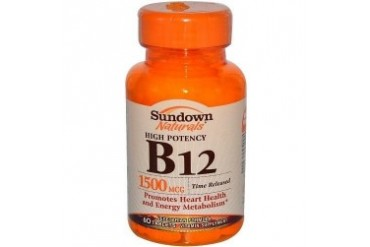 Sundown Naturals High Potency B-12 Time Released 1500 mcg Tablets