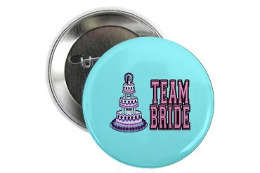 Team Bride Wedding Button Wedding 2.25 Button by CafePress