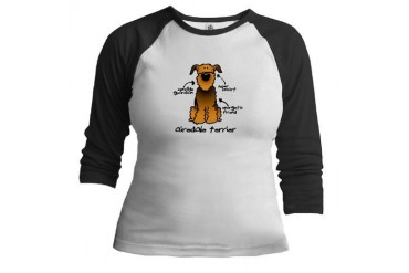 Airedale Terrier Pets Jr. Raglan by CafePress