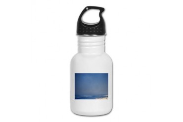 Morning Beach Peace Kid's Water Bottle by CafePress