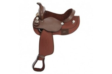 Tough-1 Krypton By King Series Western Saddle - Brown - 13