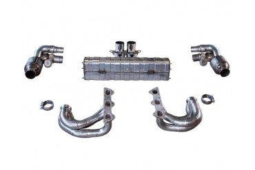 Cargraphic Exhaust Kit 6 Performance Version w Flaps Porsche 997.2 GT3 10-11