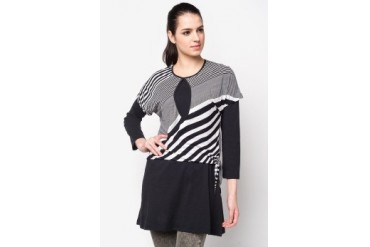 Aqeela Muslimah Wear Nursing Blouse With Diagonal Stripe
