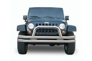Rampage Stainless Steel Double Tube Front Bumper with Hoop  86420 Front Bumpers