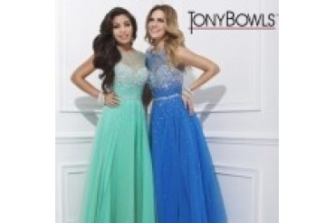 "Tony Bowls Le Gala ""In Stock"" Dark Blue Dress - Style 114516"